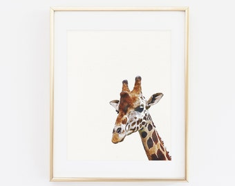 Printable Wall art, Giraffe Print, Nursery Animal Art, Nursery Safari Decor, Printable Kids Room Poster, Modern Minimalist, Instant Download
