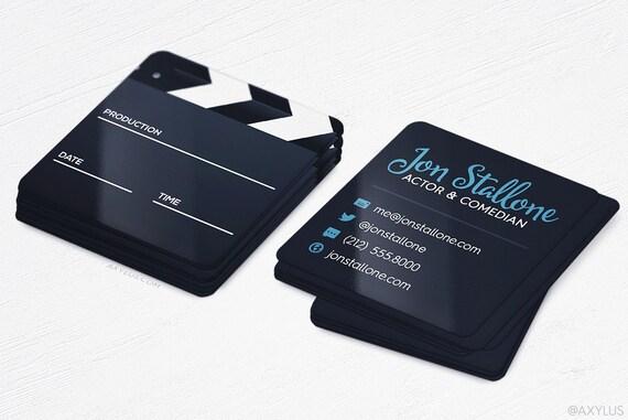 Mini actor business cards film maker square die cut cards colourmoves