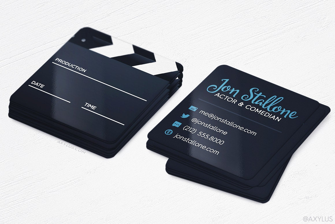 Mini Actor Business Cards Film Maker Square Die-Cut Cards