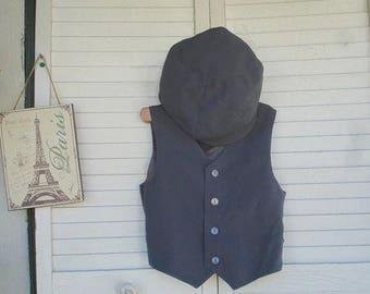 Size 11-12yrs Stormy Grey boys  Vest Only, ringbearer vest, wedding vest