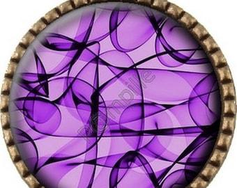 Bronze pendant Cabochon - Purple (486)
