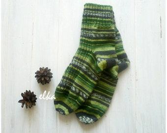 "Socks knitted Motive (сolour #4) / Носки вязаные ""Мотив"" (цвет #4)"