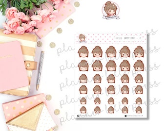 Belle Emotions: 3 || Stationary Stickers, Planner Stickers