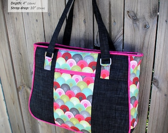 Tote bag pattern, Goin' Uptown Tote, large tote bag, going uptown tote, tote bag PDF, diaper bag pattern, nappy bag pattern