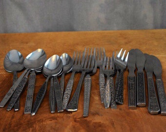 1960's Japan MisMatched Silverware Set 4 Place Settings