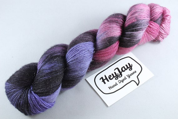 Hand Dyed Sock Yarn Superwash Merino/Nylon - Gothic