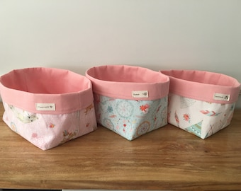 Nursery storage bucket, dreamcatcher, girls nursery