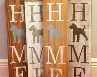 Pit Bull Home Sign - Bully Wood Sign -Dog Sign - Pittie Sign - Dog Home - Rescue Dog Sign - Pitbull Rustic Home  - American Pit Bull Terrier