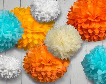 Tissue Paper Pom Poms - Set of 30 - Weddings//Anniversary//Parties Decor//Nursery//Receptions//Ceremony