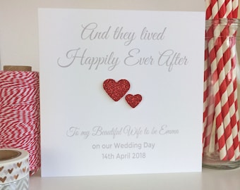Personalised Wedding Card Husband to be,  Wife to be, Bride, Groom Wedding Day Card (LB007)