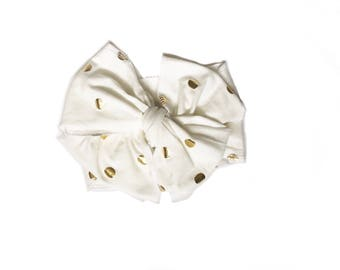 Gold Polka Dot Head Wrap