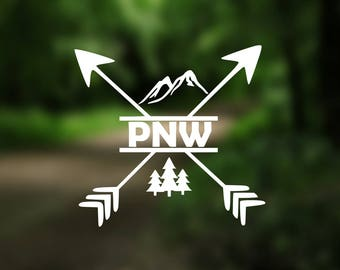 DECAL {Pacific Northwest} Vinyl Decal | Car Window Decal | Laptop Decal | Laptop Sticker | Water Bottle Decal | Phone Decal | Bumper Sticker
