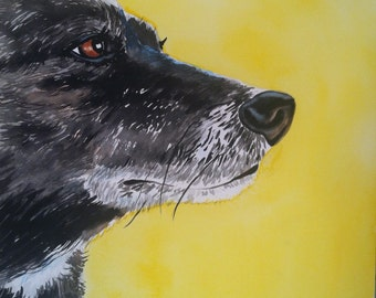 custom painting from photo of pet dog cat