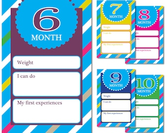 Baby development cards - 6 month - 10 month
