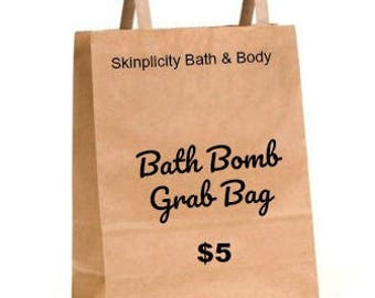 Bath Bomb Grab Bag - it's a mystery - 6 bath bomb fizzies in your bag - Clearance Sale