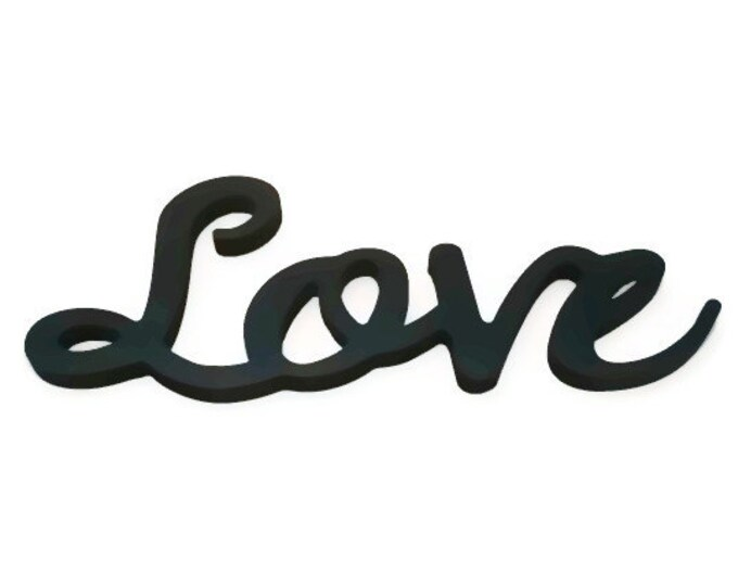 Wooden Wall Word Love, Love Wall Sign, Wooden Love Wall Letters. Love Decor
