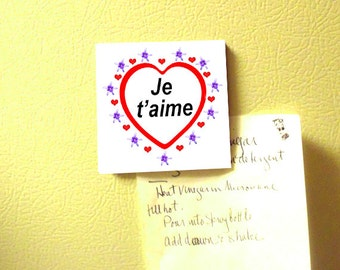 French I love you Magnet