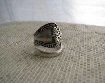 Sterling Ring, Sterling Spoon Ring, Spoon Jewelry , Sterling jewelry, Pat. March 7, 1989. , Old spoon ring, Rare spoon ring