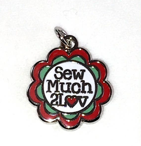 "Exclusive SewMuch2Luv 5/8"" Enamel Charm"