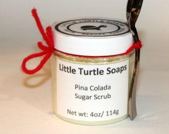 Pina Colada Sugar Scrub, body scrub, pina colada, gift idea, sugar scrub, gift for her, face scrub, foot scrub, Exfoliation sugar scrub