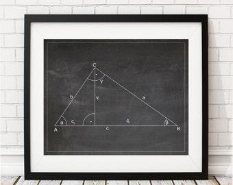 Math Art Print, Math Teacher Gift, Math Gift, Math Poster, Math Nerd, Math Classroom Decor, Mathematics Equation, Math Print, Math Geek Art