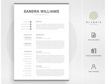 Modern resume template professional cv template for word professional resume template instant download modern cv template for word creative resume design yelopaper Image collections