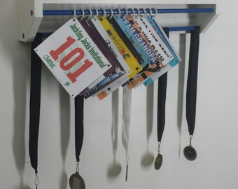 Trendy Running display race bibs and medals. race bibs holder, bib display, medal holder, medals and trophy holder, custom colors