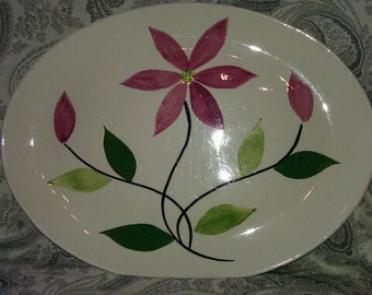Hand Painted American Heritage Oval Platter from 1955.