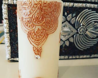 Henna Design candle
