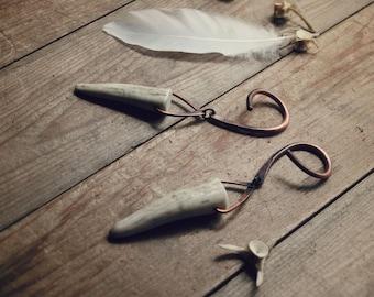 Algiz : Elk Antler Tips on 8 gauge copper