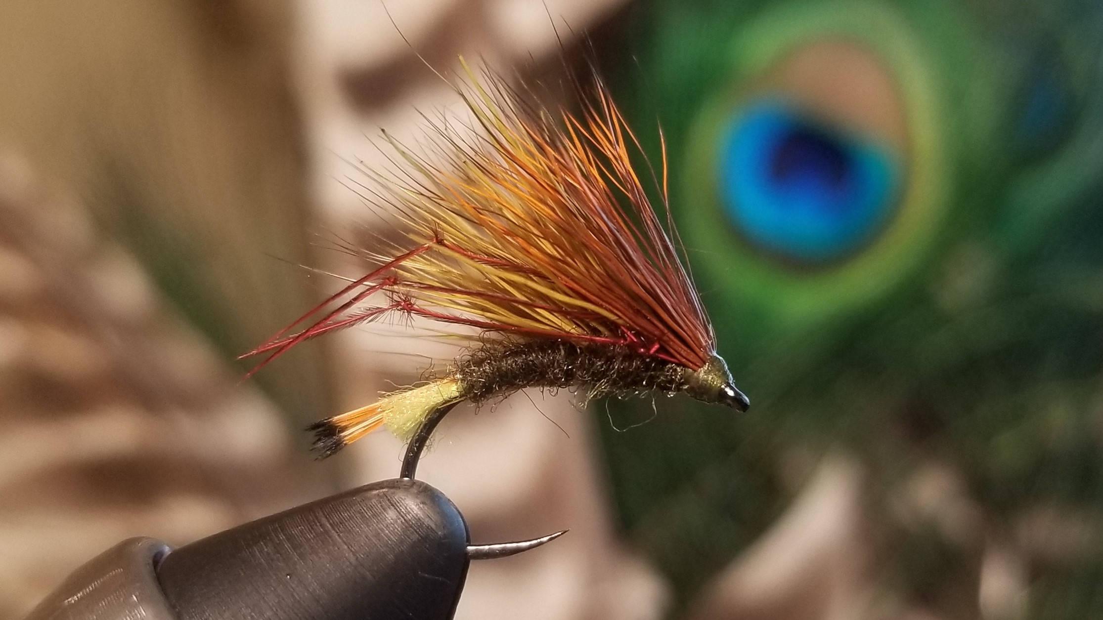 Oliv / Orange Igel Fliegenfischen fliegen