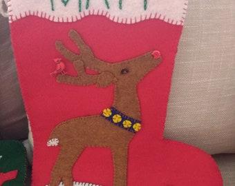 Personalized Handmade Felt Christmas Stockings