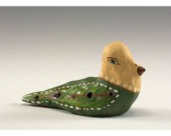 Roland - Sculpted Ceramic Bird by Jenny Mendes