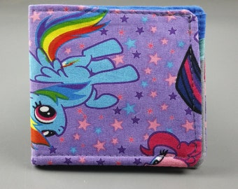 My Little Pony fabric wallet with card slots and cash pocket