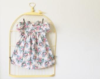 Vintage Floral Bouquet Dress (Size 3T)