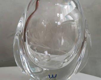 Kosta Boda vintage Crystal Vase