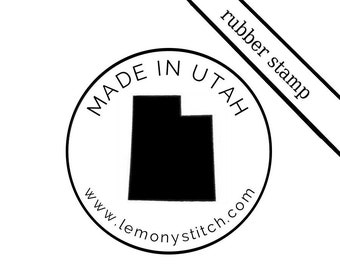 CUSTOM Message - US State or COUNTRY of your choice Wood Stamp | custom rubber stamp - small business, event, wedding, team, music band