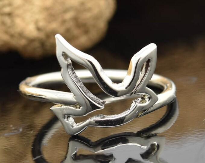 bird ring, love bird ring, birdy ring, 925 sterling silver, custom made, kids ring, kids jewelry