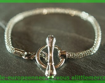 No. 40 18 cm charms silver plated European Bead Bracelet