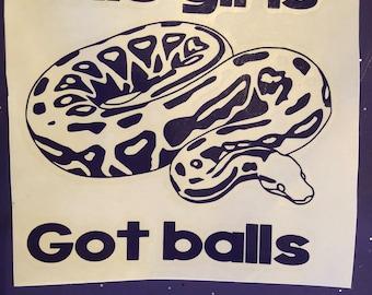 Ball python car decal
