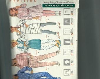 Butterick Girls' Dress, Top, Jumper, Skirt, Pants and Leggings Pattern 4411