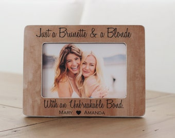Personalised Best Friend Friendship Wooden Picture Plaque Custom Present Gift