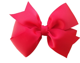 Red hair bow - hair bows, bows, hair clips, hair bows for girls, baby bows, toddler bows, girls bows, girls hair bows, big hair bows, bow
