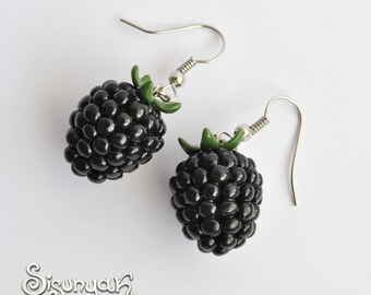 Blackberries Earrings Fruit Dangle Earrings - Gifts for her