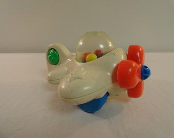 Vintage 1998 Playskool Inc. Children's Toy Popper Plane