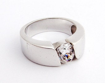 SaLe! sALe! Cubic Zirconium Ring Sterling Silver