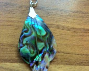Abalone shell pendant charm