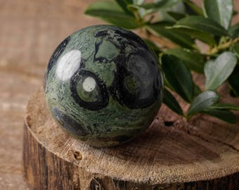 Mittlere KAMBABA Jaspis Kugel mit Stand - natürliche Jaspis, Kambaba Kugel, Heilung Steinkugel, Kristallkugel E0618 Heilung