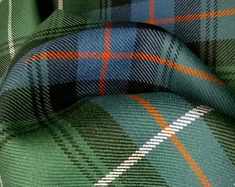 MacDonald Tartan Fabric MacDonald of the Isles Hunting Ancient 16oz Pure Wool