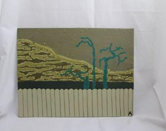 Acrylic painting minimalistic landscape art